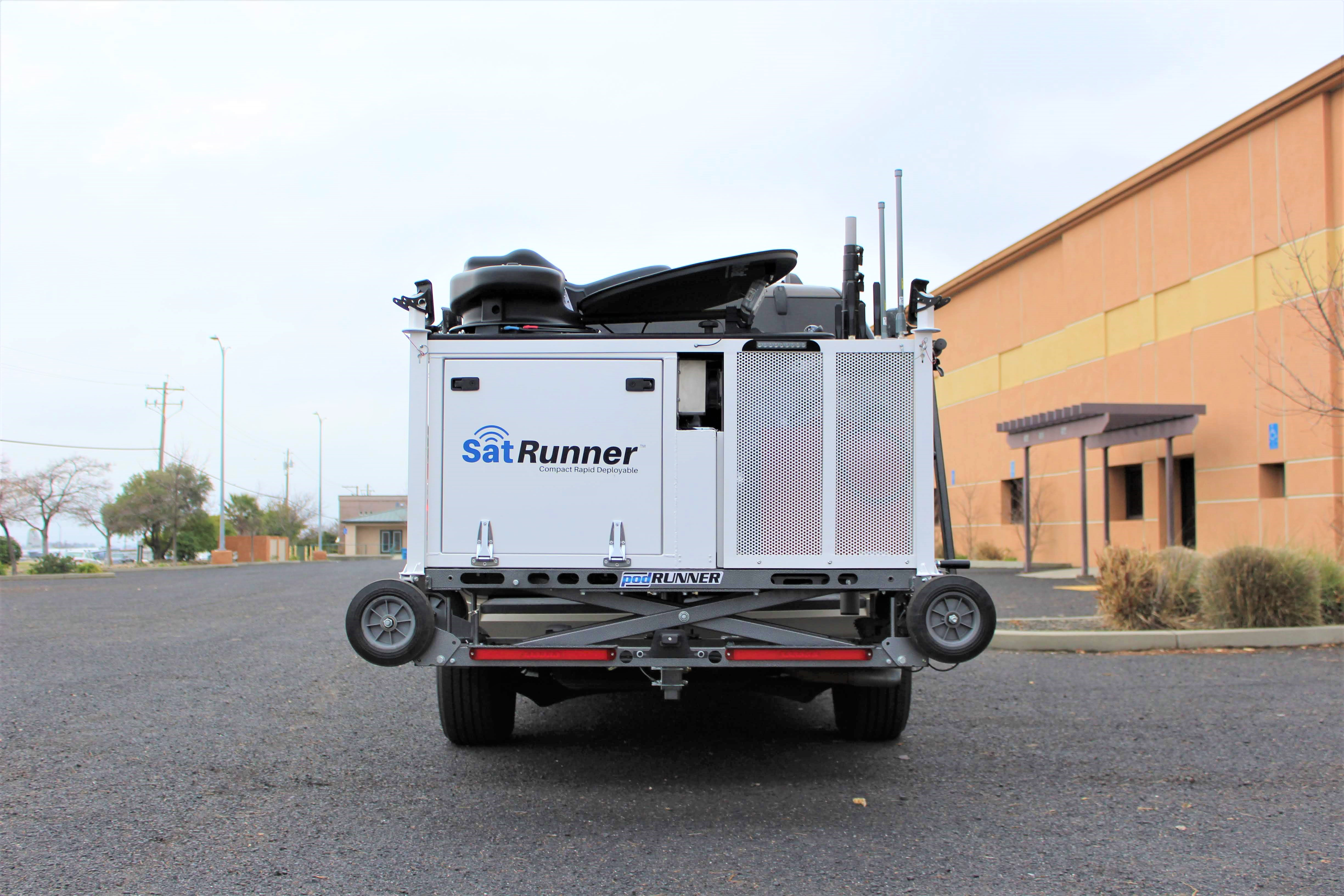 SatRunner loaded up on the back of a SUV