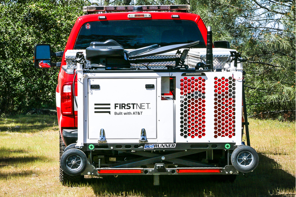 CRD for FirstNet on back of truck
